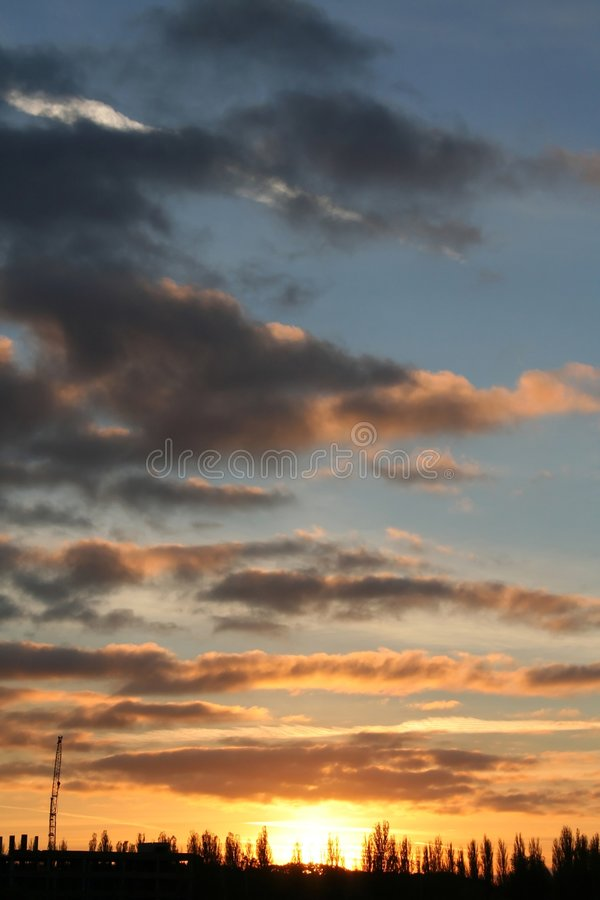 Download Sunset sky stock image. Image of beauty, view, vivid, color - 1715385
