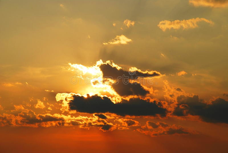 Download Sunset sky stock image. Image of cloud, blue, fortune - 28755725