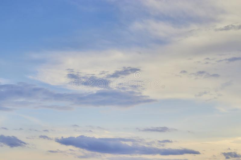 Sunset sky background, nature concept background, twilight sunset sky with clouds stock photos