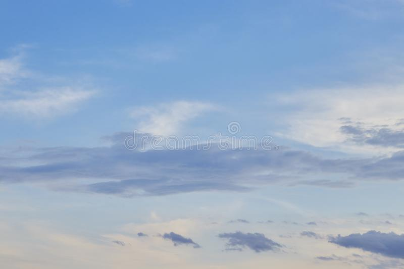 Sunset sky background, nature concept background, twilight sunset sky with clouds royalty free stock images