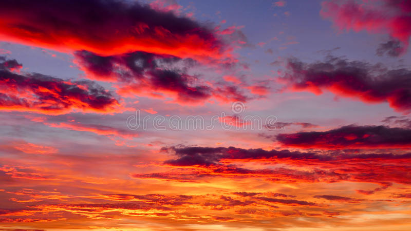 Sunset sky background stock images