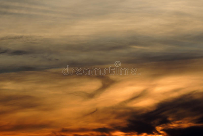 Download Sunset sky with clouds stock image. Image of clouds, layered - 32036621