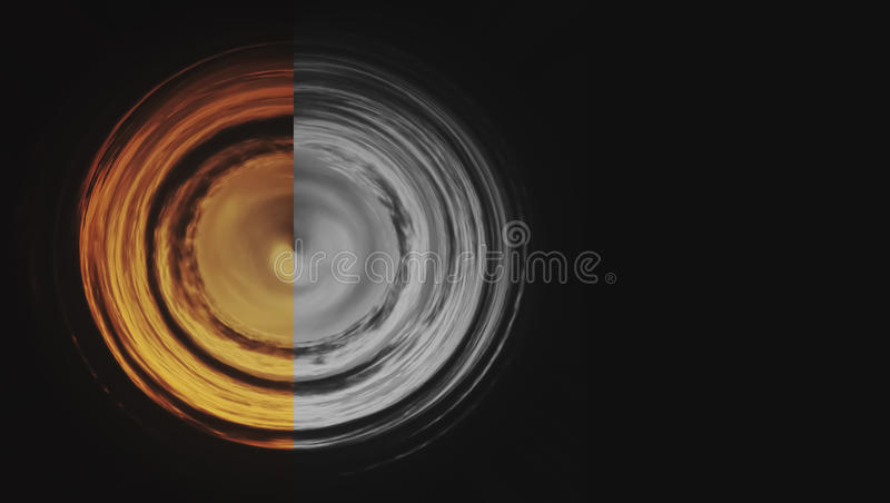Sunset Sky with distort polar coordinate filter. royalty free stock images