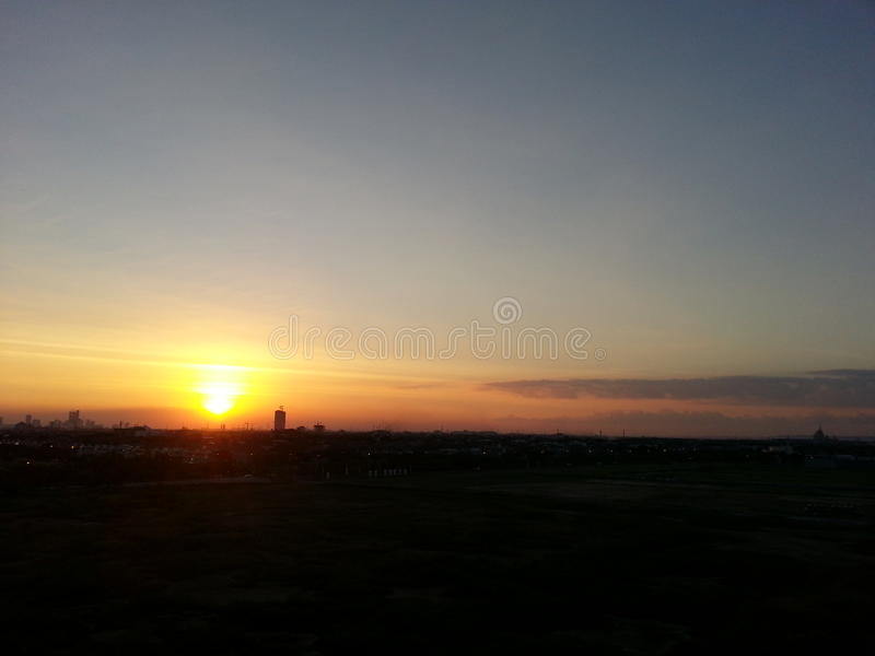 Sunset sky earth confused holiday nice view stock photography