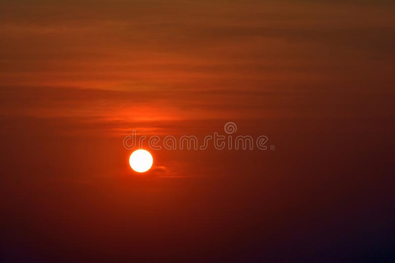 Sunset and Sky in India. Sun and Sky at evening click at Kovalam Beach Trivandrum Kerala stock photo