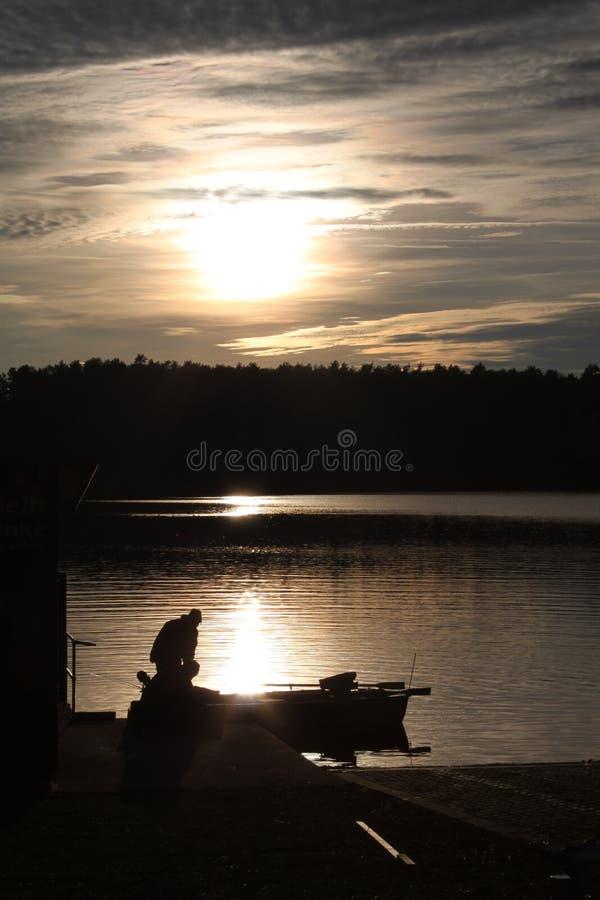 Sunset, Sky, Reflection, River stock photography