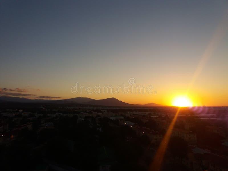 SUNSET/SKY/ROMANCE zdjęcie stock
