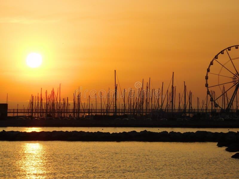 Sunset, Sky, Sunrise, Sea royalty free stock images