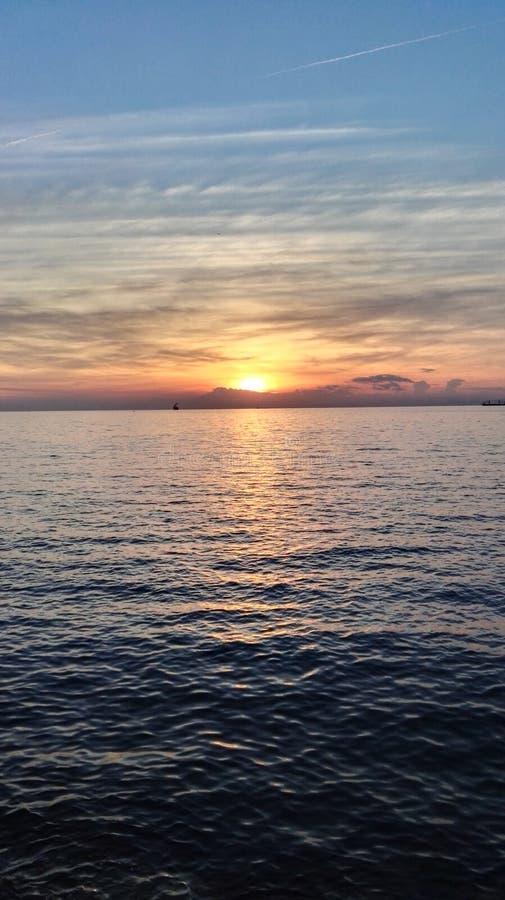 Sunset in Slovenia royalty free stock photos