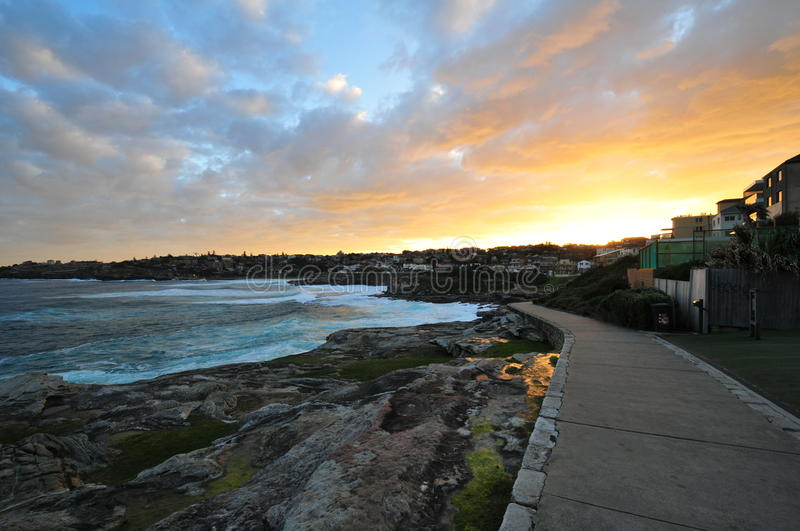Sunset at Small Village, Sydney stock photography