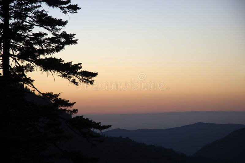 Sunset in the Smokies royalty free stock images