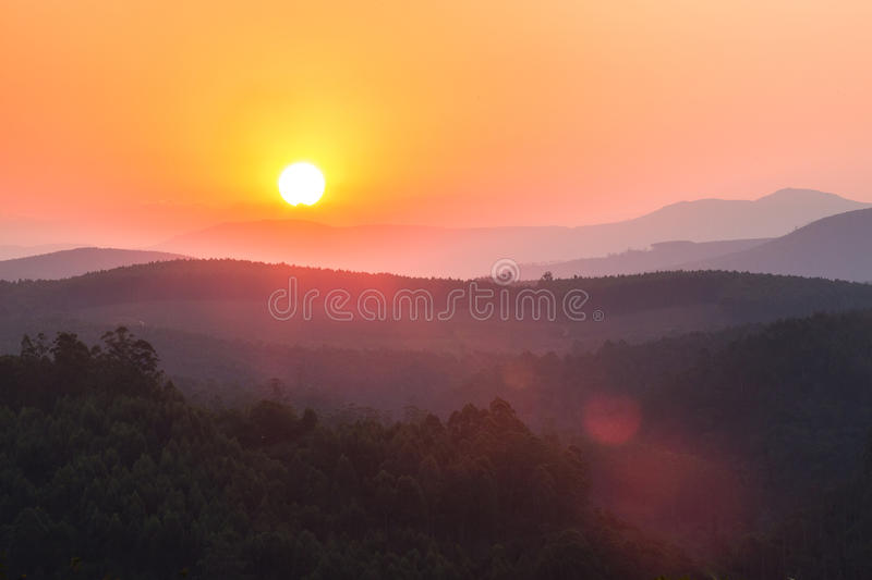 Sunset in southafrica. Near the kruger national park royalty free stock photo