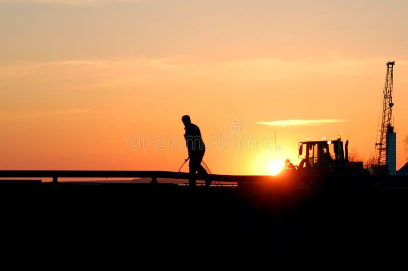 sunset spawacz zdjęcia royalty free
