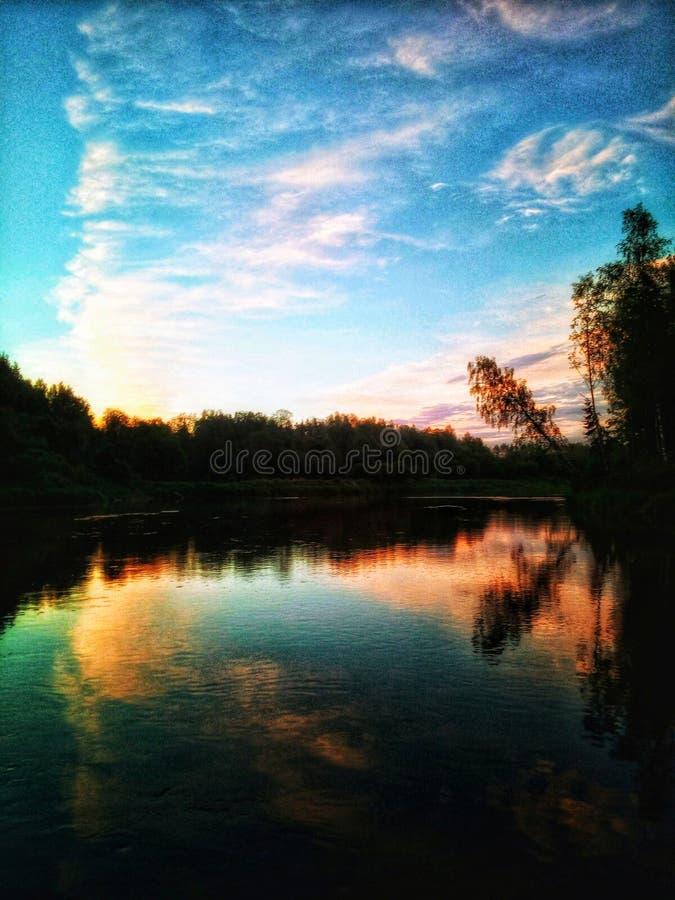Sunset speaks. Silence, meditation, mindfullness stock image
