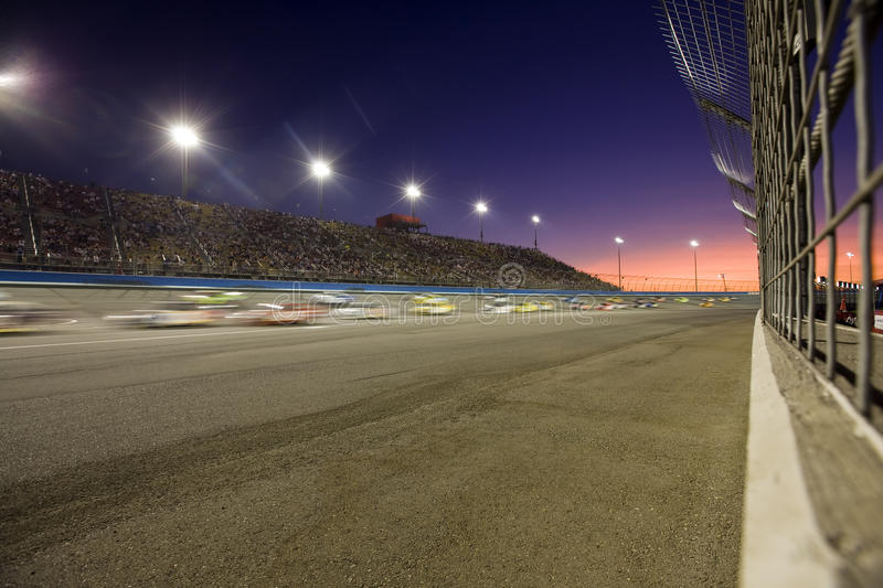 Sunset on the Speedway. Sunset on a racetrack during an event