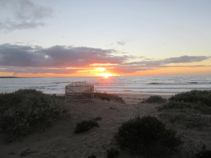 Sunset St Helena Beach. Nature, tranquil, romance, southafrica, westcoast, background, travel, sea, sky, colours royalty free stock photos