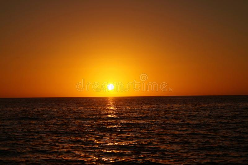 Sunset on St. Pete Beach, Florida. Beautiful sunset on St. Pete Beach, FL stock image