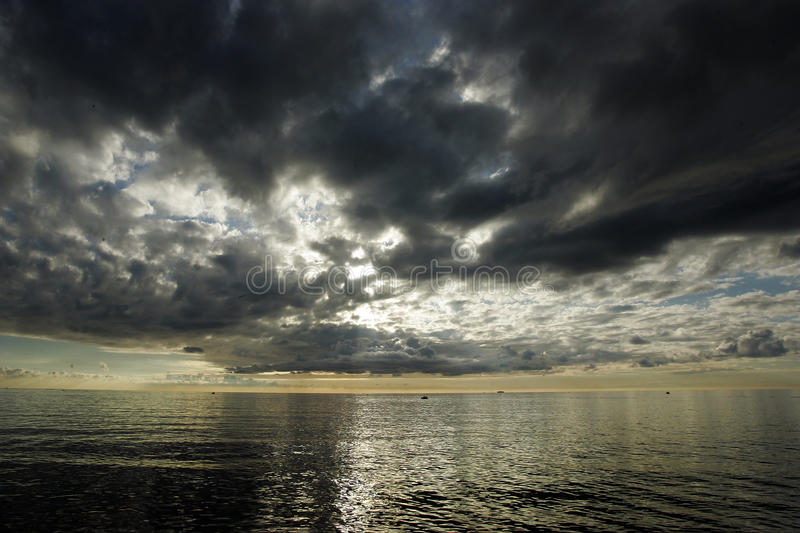 Download Sunset before storm stock photo. Image of cloudy, marine - 11877114