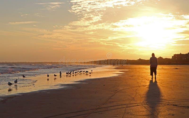 Sunset Stroll stock photo