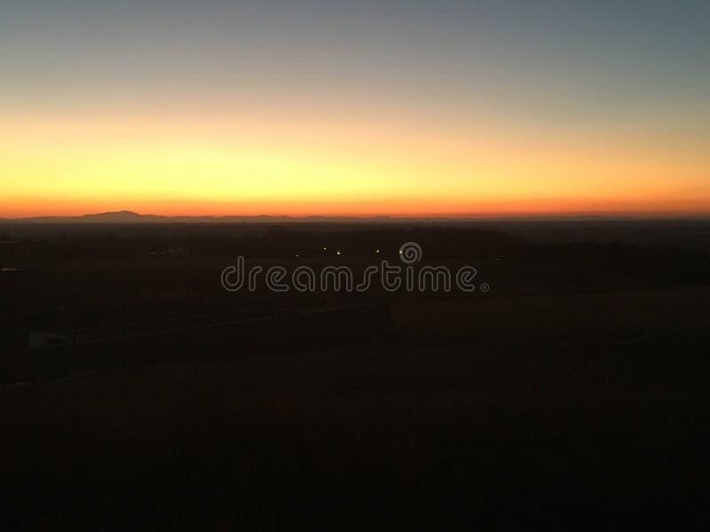 Sunset in Stupava. Nighttime view of sunset in Stupava Slovakia royalty free stock image