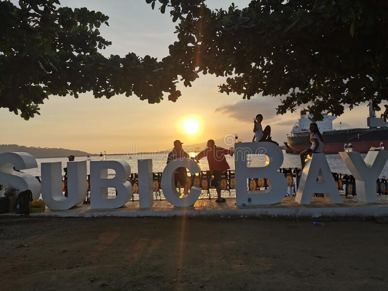 Sunset at Subic Bay royalty free stock photography