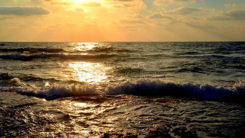 Sunset in summer royalty free stock images