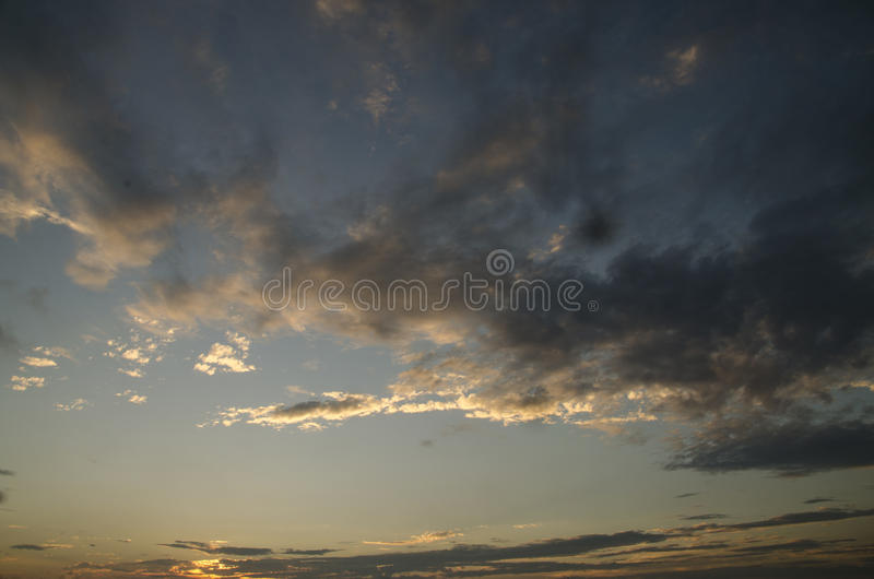 The sunset stock photography