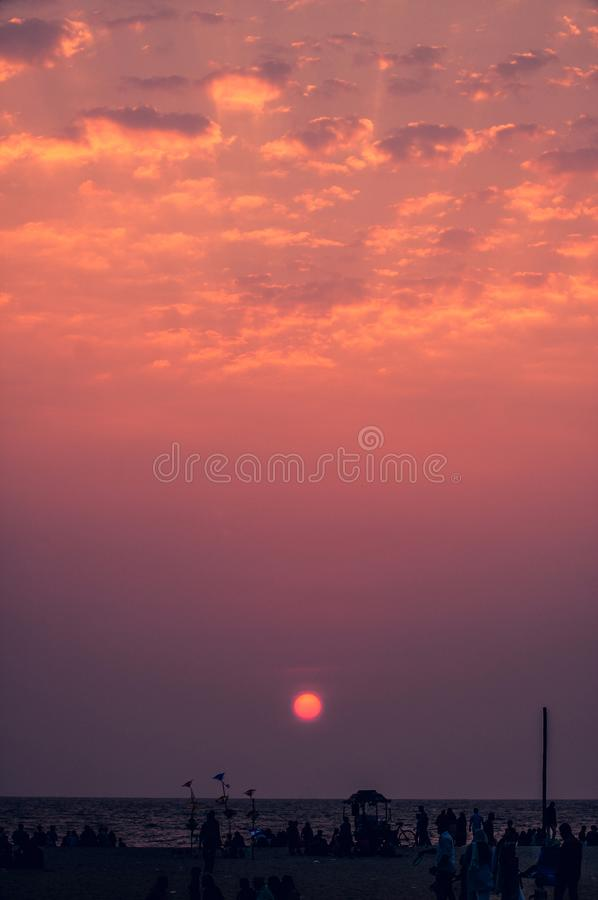 Sunset royalty free stock photography