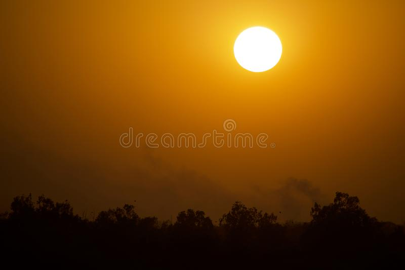 Sunset. Sun set Time. use image in Background or as wallpaper royalty free stock photo