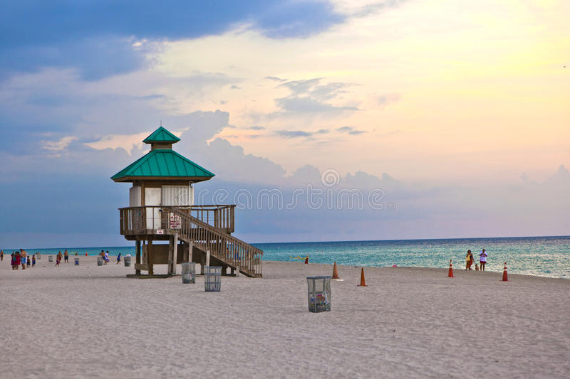 Sunset in Sunny Islands, Miami royalty free stock image