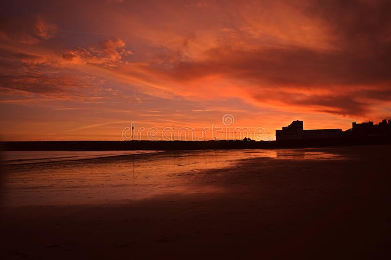 Sunset at Sunny Sands royalty free stock images