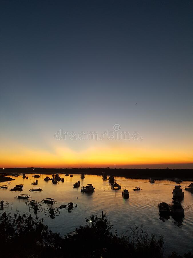 Sunset and sunrise blue sea beautiful seascape panorama. Composition of nature abstract background. Pattern best quality royalty free stock images