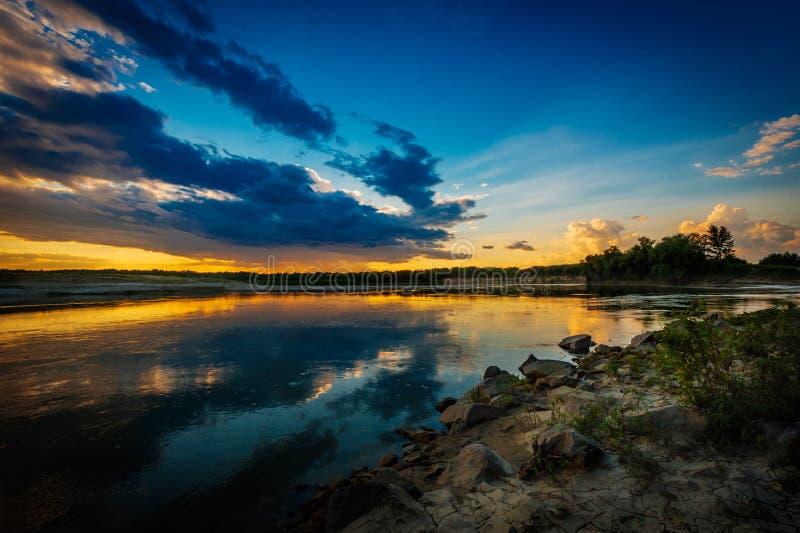 Download Sunset or sunrise stock image. Image of calm, landscape - 36015699