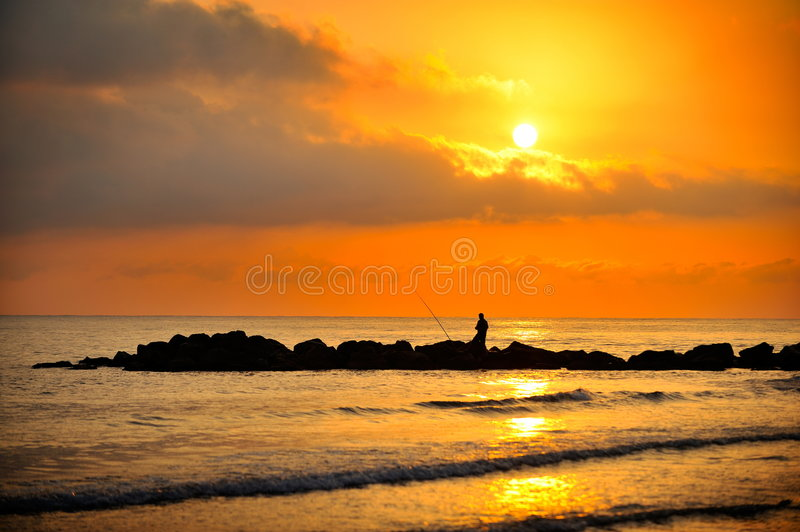 Sunset/sunrise Over The Sea Stock Photography
