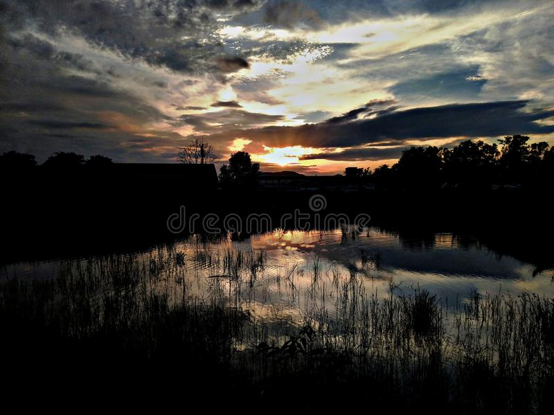 Sunset. A sunset from from mobile camera......nature at its best royalty free stock photo