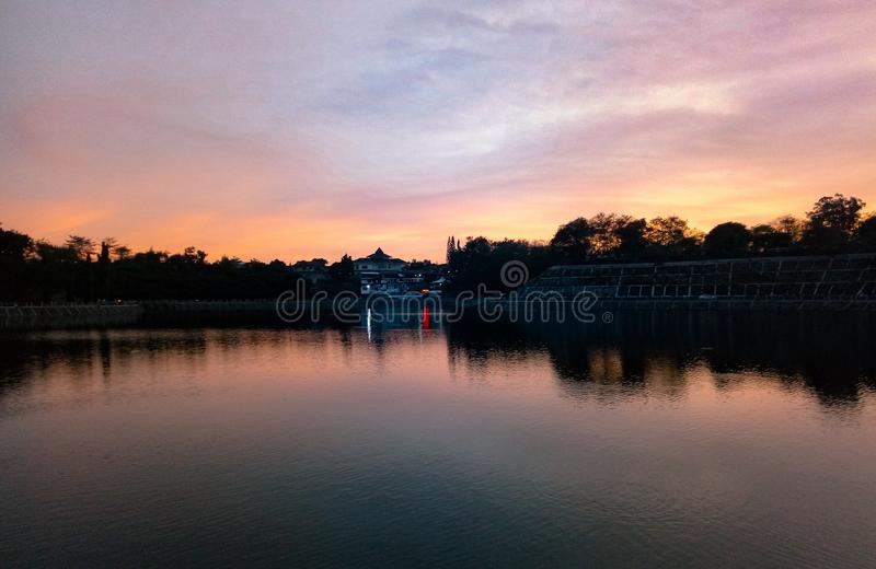 Sunset. Traveler, indonesia, yogyakarta, senja, sky, beautifulpicture, naturalpicture, dreamstime royalty free stock images