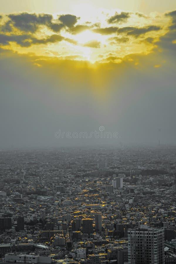Sunset from the Sunshine 60. Shooting location : Tokyo metropolitan area stock image