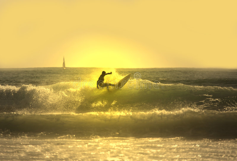 Sunset surf royalty free stock images