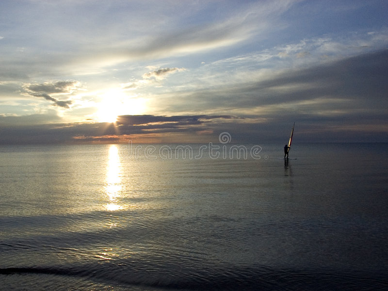 sunset surfingu fotografia stock