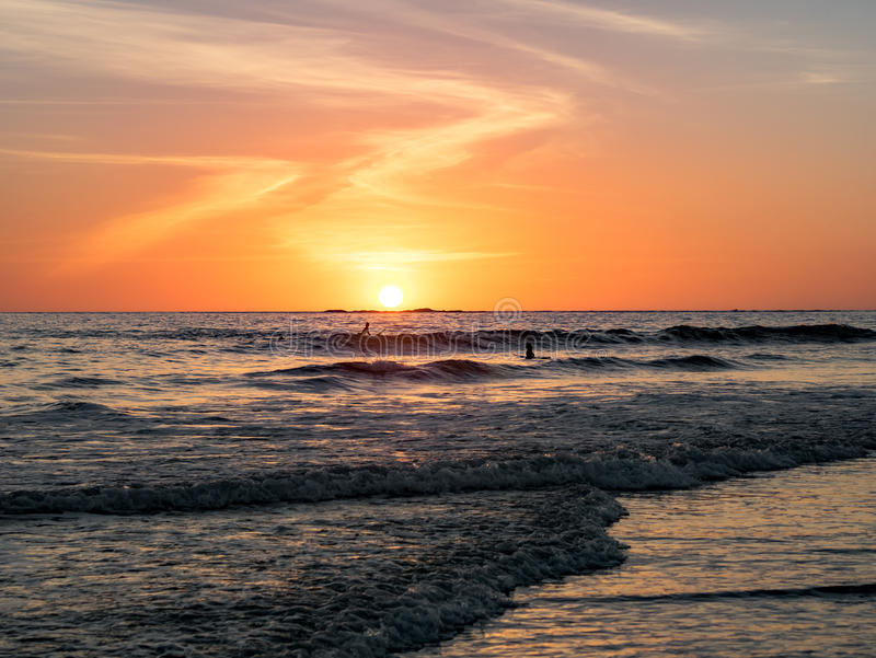 sunset surfingu zdjęcia stock