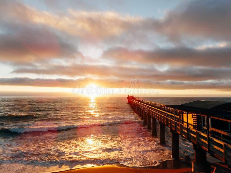 Sunset Swakopmund Namíbia fotografia de stock royalty free