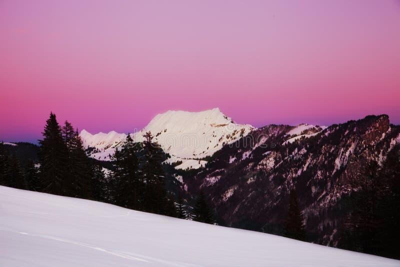 Sunset in Swiss Alps