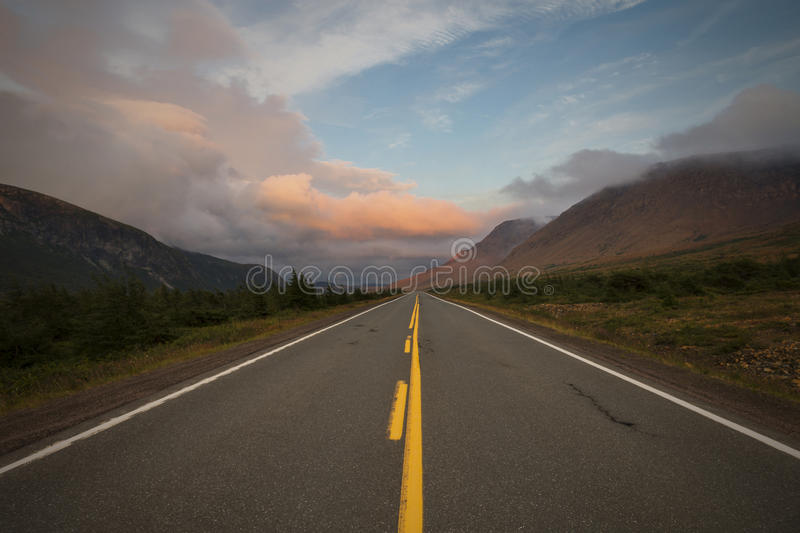 Sunset at the TableLands royalty free stock photos