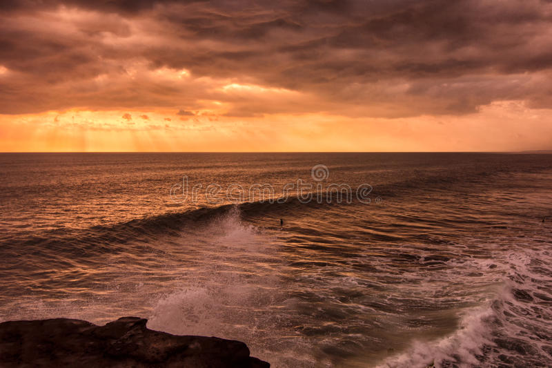 Sunset at Tanah Lot royalty free stock images