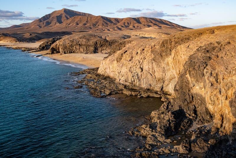 Sunset te Playa Papagayo stock foto's