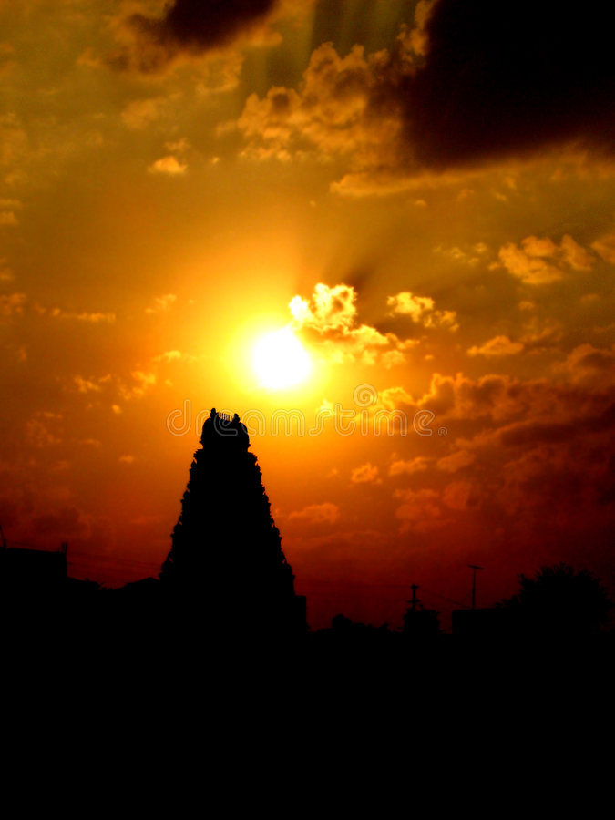 Free Sunset Temple Stock Image - 1531041