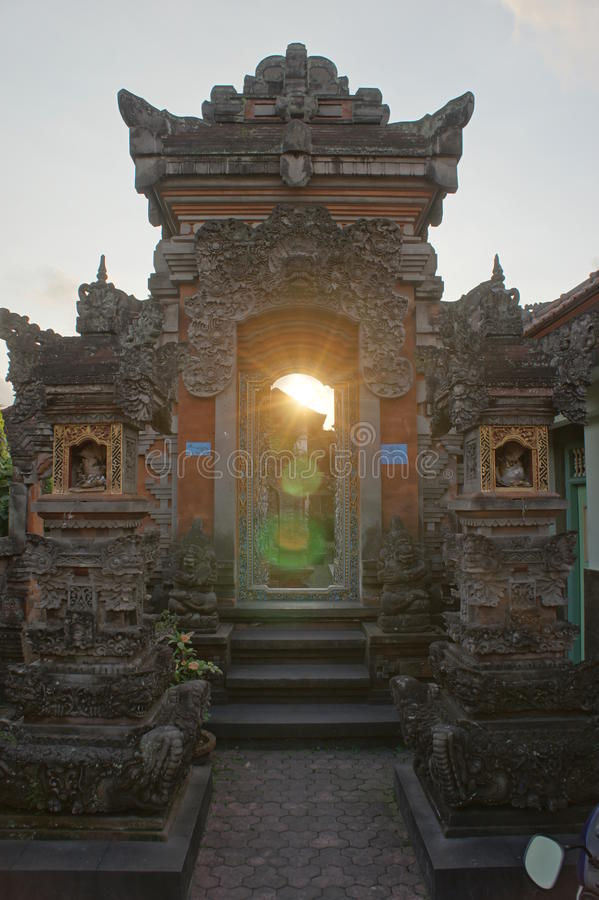 Download Sunset temple stock image. Image of indonesia, building - 21088729