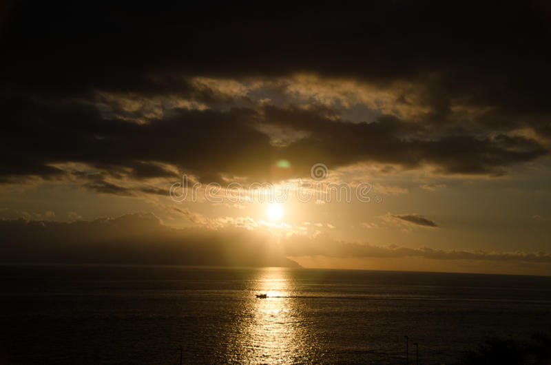 Download Sunset in Tenerife stock image. Image of sunset, small - 83714301