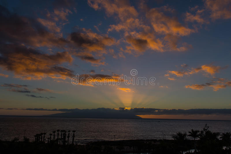 Download Sunset In Tenerife Stock Photo - Image: 83713876