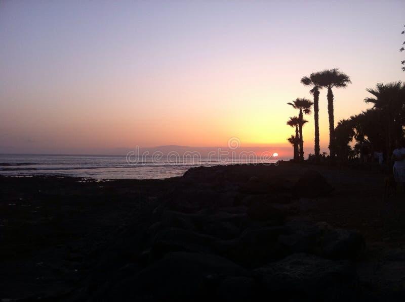 Sunset in Tenerife royalty free stock image